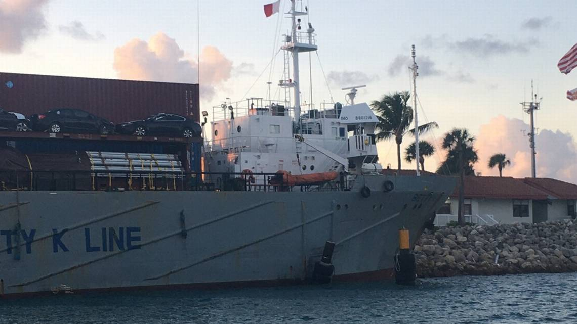 Russian cargo ship is refloated off Cornwall beach in