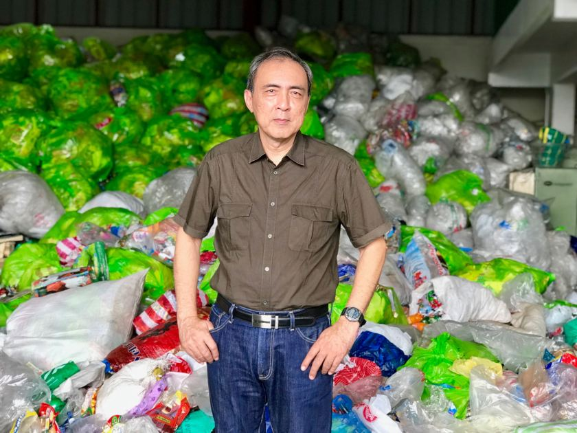 Bert Guevara, vice president of the Philippine Alliance for Recycling and Materials Sustainability, at the group's recycling facility in Parañaque, a Manila suburb.