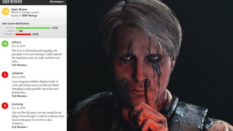 Death Stranding FedEx Simulator Metacritic's user and critic reviews differ wildly