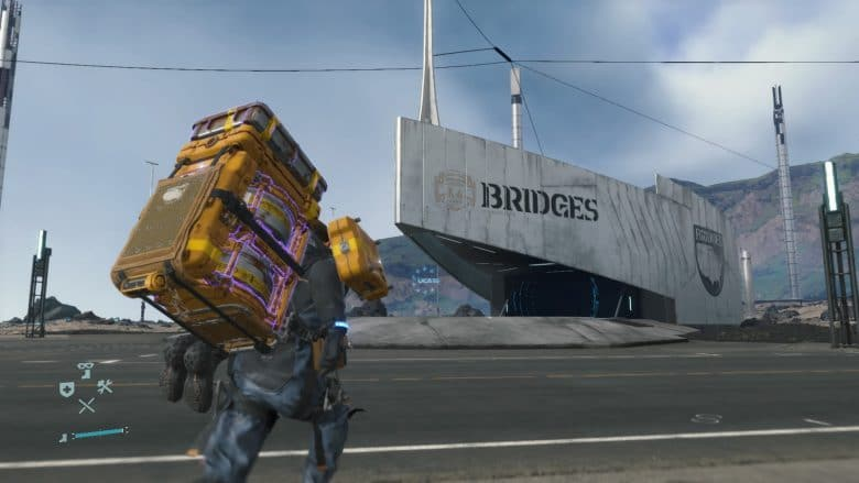 Sam approaches his delivery destination. But remember, deliveries are only one of many elements of Death Stranding Fed Ex Simulator
