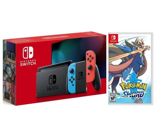 Nintendo Switch with Pokémon Sword or Shield game