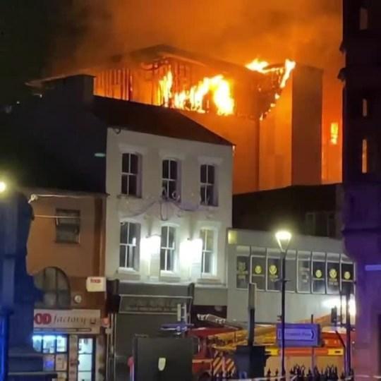 Bolton university student accommodation fire