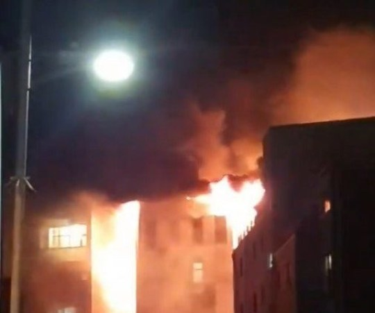 Handout photo taken with permission from the Twitter page of Ace Love of emergency services at the scene after a fire on the top floors of a building on Bradshawgate in Bolton. PA Photo. Issue date: Friday November 15, 2019. See PA story FIRE Bolton. Photo credit should read: Ace Love/Twitter/PA Wire NOTE TO EDITORS: This handout photo may only be used in for editorial reporting purposes for the contemporaneous illustration of events, things or the people in the image or facts mentioned in the caption. Reuse of the picture may require further permission from the copyright holder.