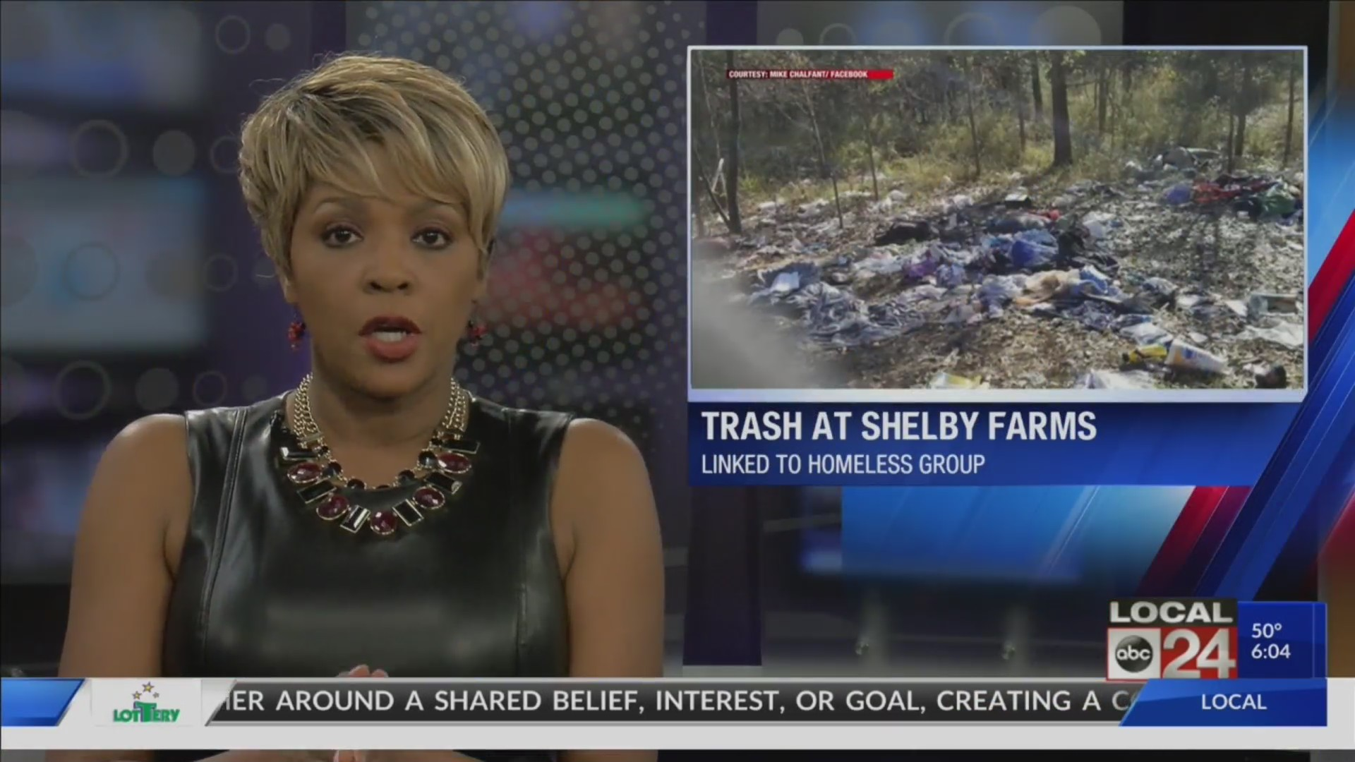 "Thumbnail for the video titled ""Possible homeless camp found at Shelby Farms Park"""