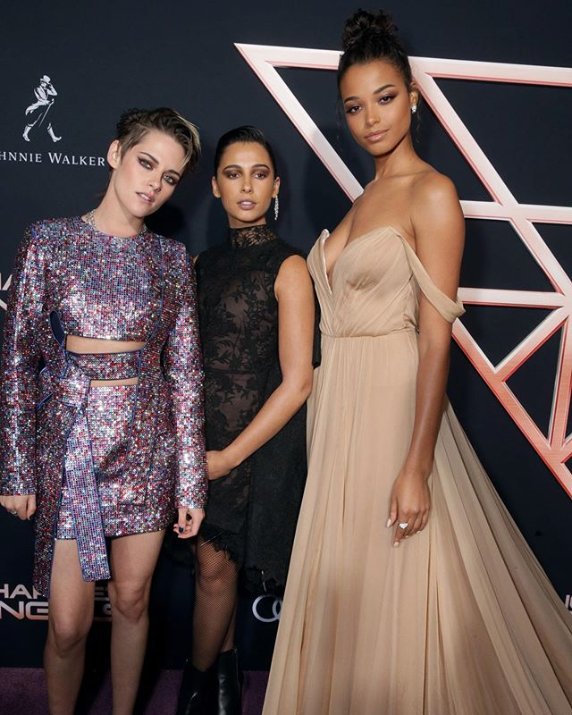 "Kristen Stewart, Naomi Scott, and Ella Balinska the stars of the new ""Charlie's Angels"" at the film's premiere in L.A. ⁣ ⁣ Recently, WWD chatted with @ellabalinska about her character and she gave us an inside look at the film. ⁣ ⁣ For Balinska, in particular, it was an opportunity to put to work her two great loves: sports and acting. Sitting in her hotel room a few months before the movie's release, the actress lights up when discussing how her sports background comes into play in the movies she's working on.⁣ ⁣ ""This is a really exciting topic for me,"" she says, folding her long legs in a pretzel and showing a toothy grin. ""When you do a lot of sport, you gain physical awareness, you know your strengths, you know your limits, you know how to push yourself in certain ways — even mental awareness. It's a discipline. You wake up and you train."" ⁣ ⁣ In regards to costars Stewart and Scott, Balinska said they got along as soon as they met, adding it's ""a sisterhood onscreen and offscreen.""⁣ ⁣ Tap the link in bio for more. ⁣ ⁣ Report: @maxinesleep ⁣ 📸: @shutterstocknow . . . . . #wwdeye #charliesangels  #ellabalinska  #kristenstewart  #naomiscott"