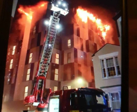 University of Bolton fire