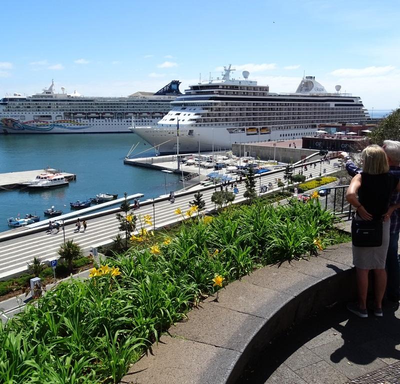 Norwegian and Regent Ships in Port