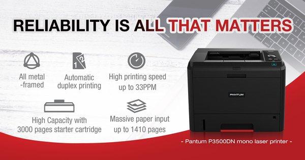 Pantum P3500DN mono laser printer