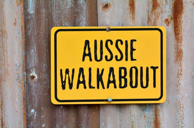 Aussie walkabout sign
