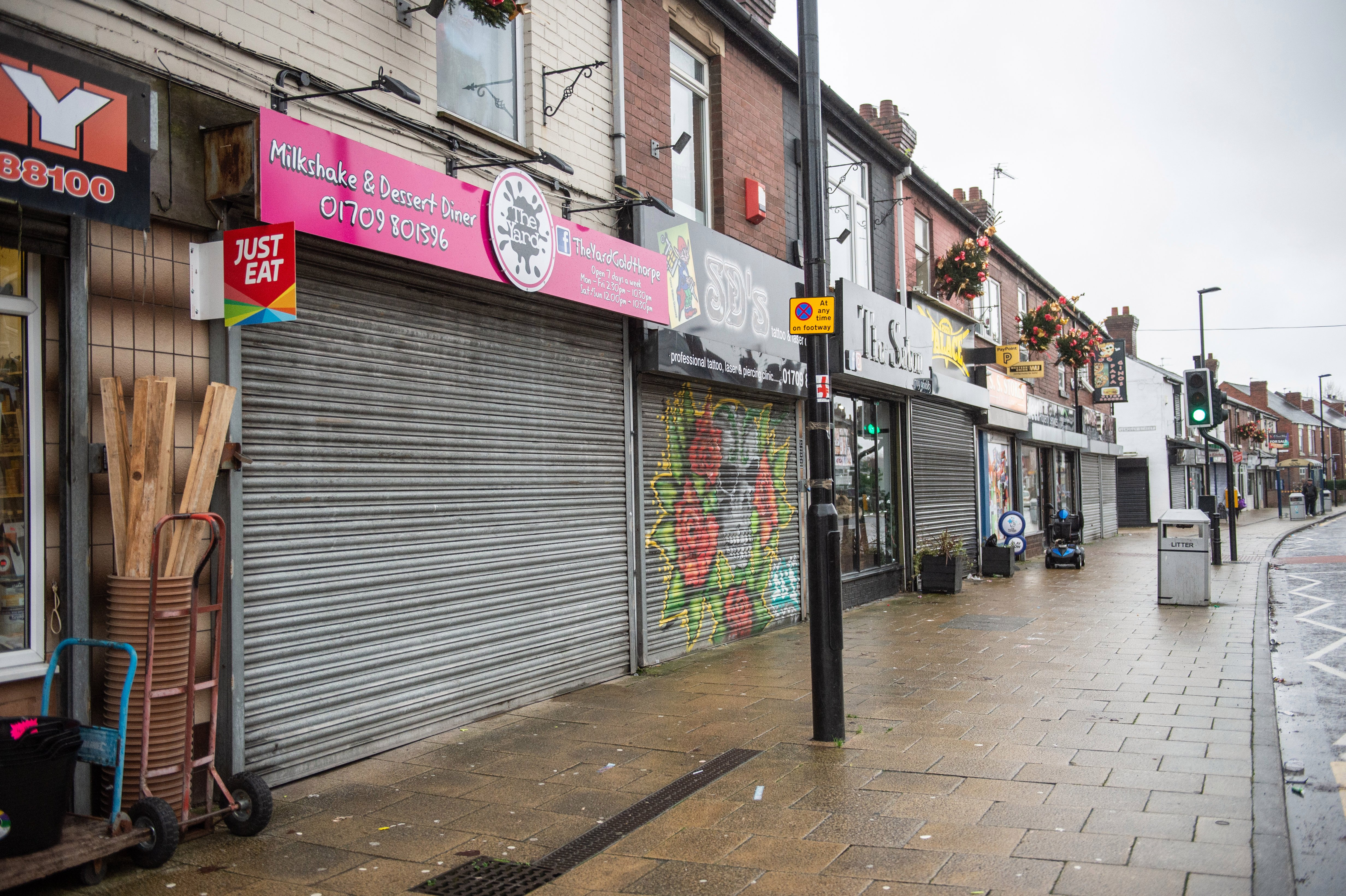Just nine miles away in the decaying and deserted village high street of Goldthorpe, South Yorks, serves as a stark reminder of how online shopping is killing the UK's high streets