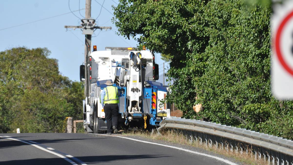ACCIDENT: A truck driver was taken to hospital following a crash on Tuesday morning.