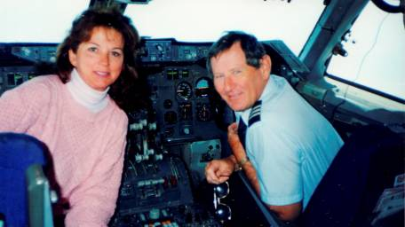 Susan and Paul Rebscher, seen in a photo