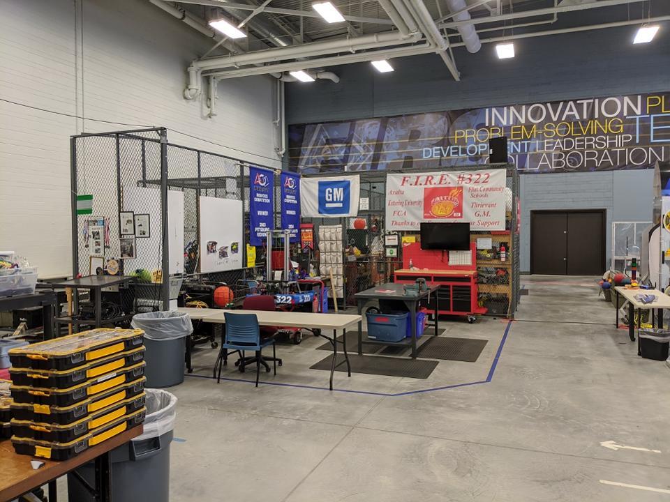 Kettering University FIRST Robotics Center hosts teams from eight Flint region schools
