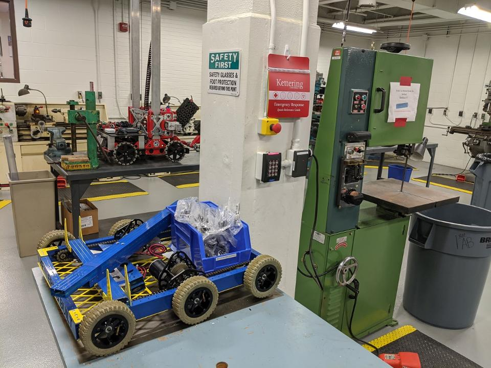 Kettering University FIRST Robotics Center includes a complete fabrication lab and computer center for students to use