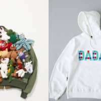 Left to right: An artisanal piece by Ambush and a sweatshirt from Christian Dada's Parco logo collection