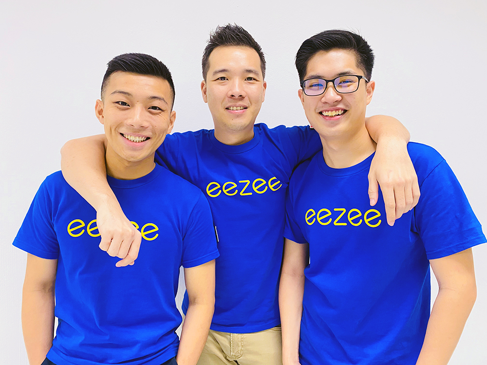 Eezee.sg procurement marketplace founders, Jasper Yap, Logan Tan and Terence Goh