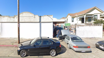 An Oakland building where a fire was reported on Dec. 27, 2019, is seen in a Google Maps Street View image.
