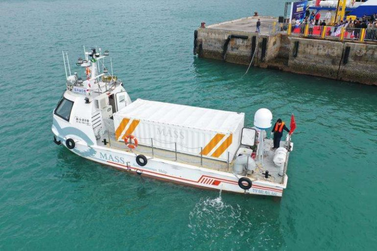 China's first autonomous cargo ship completes trial voyage