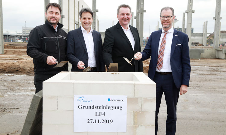 Construction begins on Swissport air cargo warehouse at Frankfurt Airport