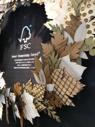 &Craft's decorative wreath product, made from FSC-certified Yamanashi wood.   MIO YAMADA