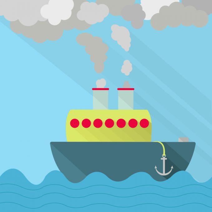 ship emissions © Drijan
