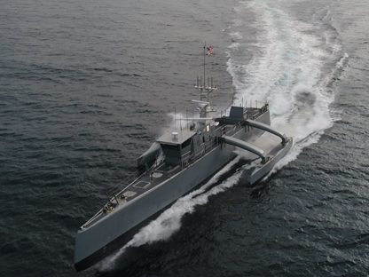 SeaHunter is currently the larger unmanned vessel in use by the US Navy. Credits DARPA
