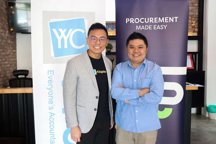 Yap Chi Chau, group executive chairman, YYC Advisors and Jonathan Oh, Supplycart CEO and cofounder.