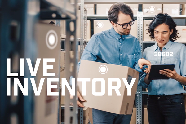 Live inventory provides real time, accurate data to be used in all aspects of your business operation