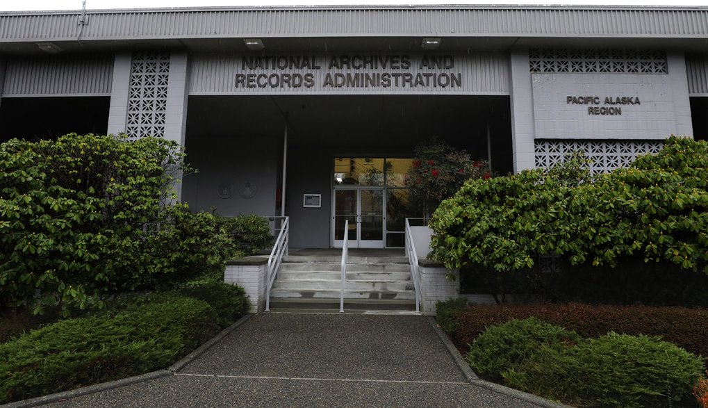 The National Archives at Sand Point has about a million boxes of generally unique, original source documents and public records. (Alan Berner / The Seattle Times)