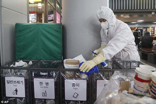 France has confirmed two coronavirus cases, the first in Europe. Despite prevention measures such as sanitation being done in South Korea (pictured), the virus continues to spread globally