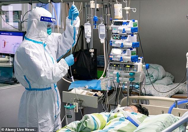 Wuhan is a city of 11 million people which has been the epicentre of the outbreak. It is now treating dozens of patients (pictured)