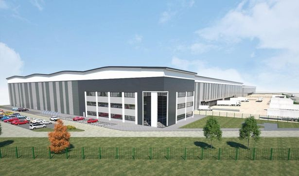 An artist impression of the Crewe 305 warehouse