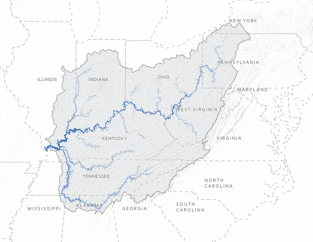 Ohio Watershed (Map by Blue Raster)