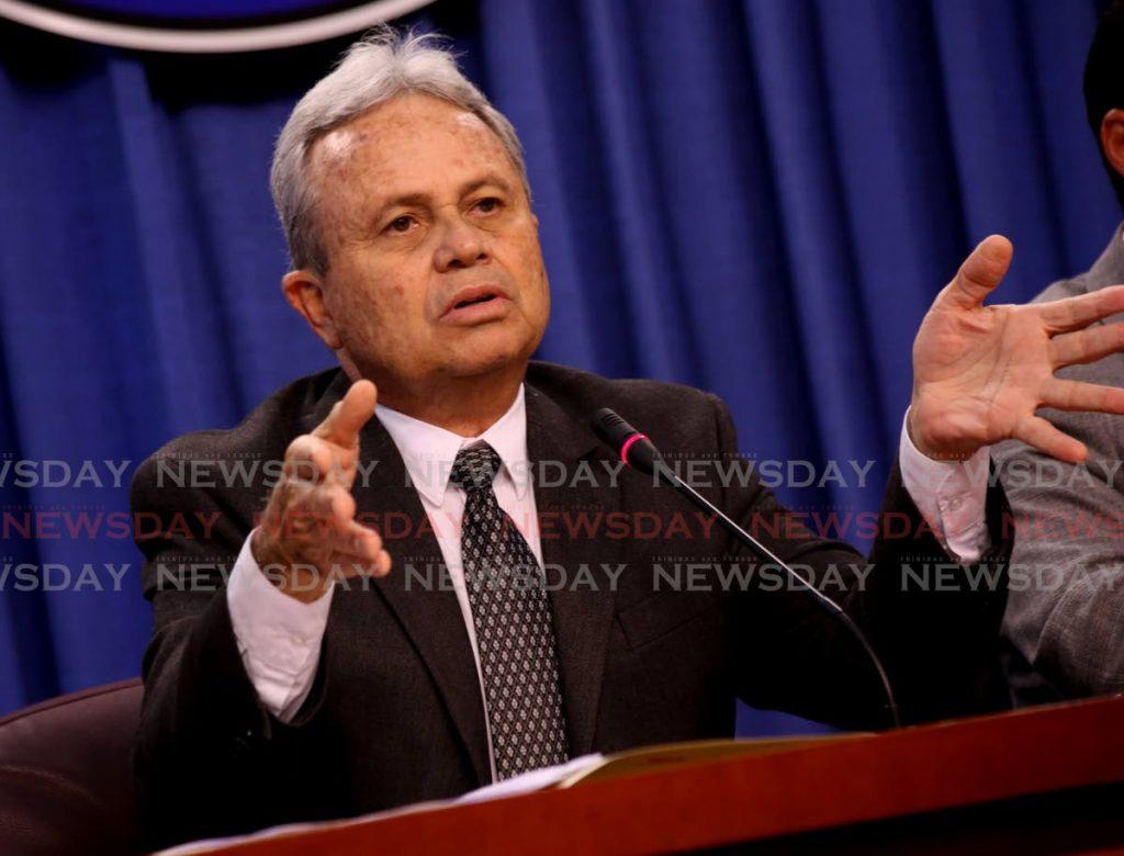 Finance Minister Colm Imbert. - Sureash Cholai