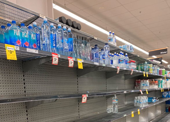 Supplies were scarce at some stores across the east coast of Australia. Source: Twitter/@SimplyCheecky