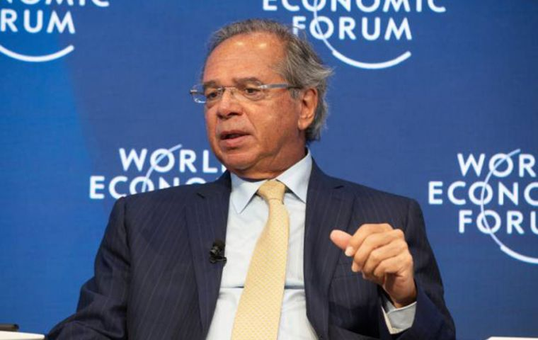 In Davos minister Guedes told business leaders that Brazil planned to sign the World Trade Organization's Agreement on Government Procurement