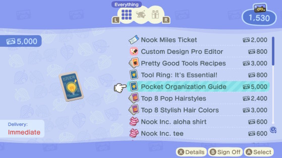 Inventory Expansion - Animal Crossing: New Horizons