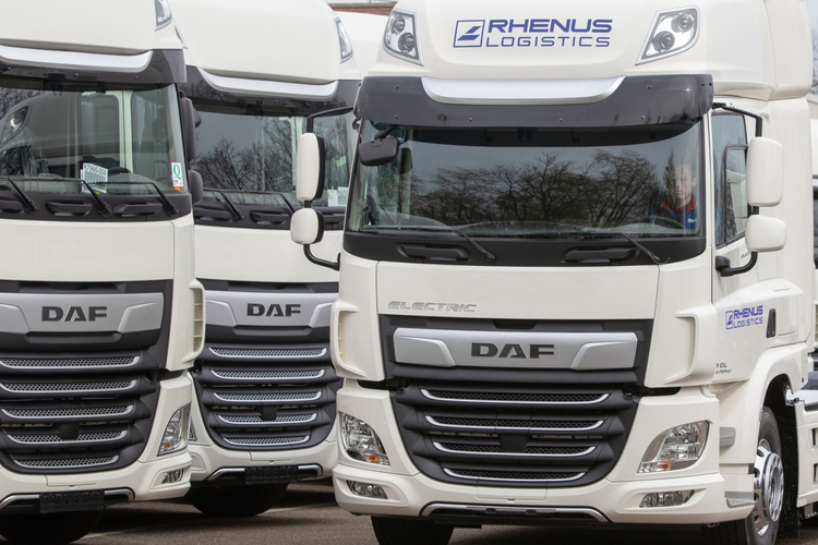 Rhenus electric freight trucks.