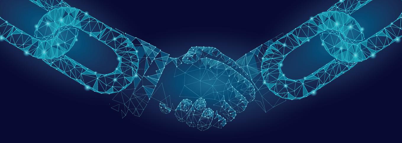 CROP - Blockchain - Connectivity - Stock image