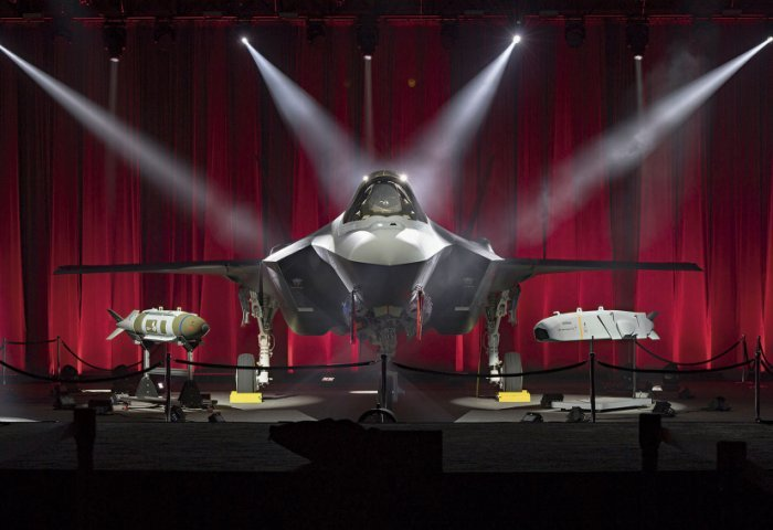 The first of a planned 100 F-35As for Turkey seen at its rollout before the country was excluded from the programme in July 2019. The USAF is to take six such aircraft that were to be built in Lot 14, and is expected to absorb the already-built and in-production Turkish jets as well. (Lockheed Martin)