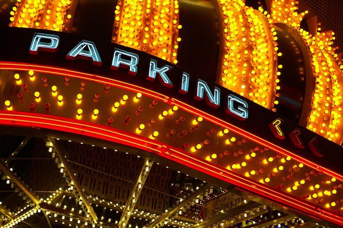 Las Vegas parking garage sign