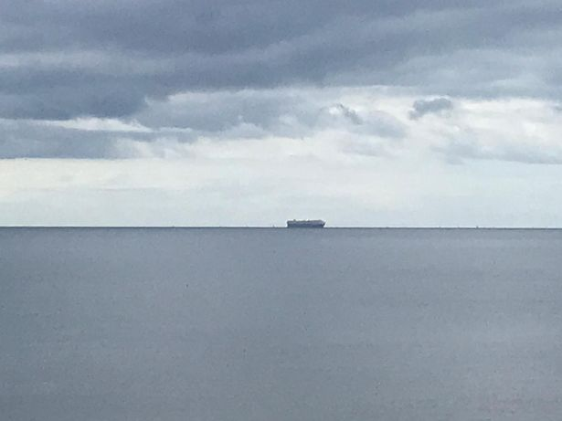 Massive car transporter Wisdom Ace pictured off the coast of Torbay
