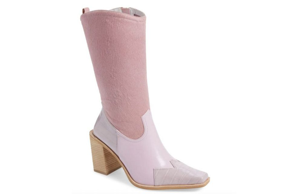boots, suede, soft, pink, jeffrey campbell