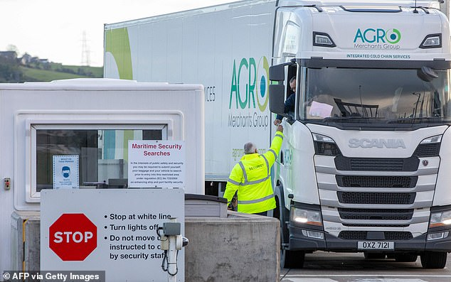 Confusion: Reports suggest there has been disruption of trade between Northern Ireland and the rest of Britain since the Brexit transition period ended