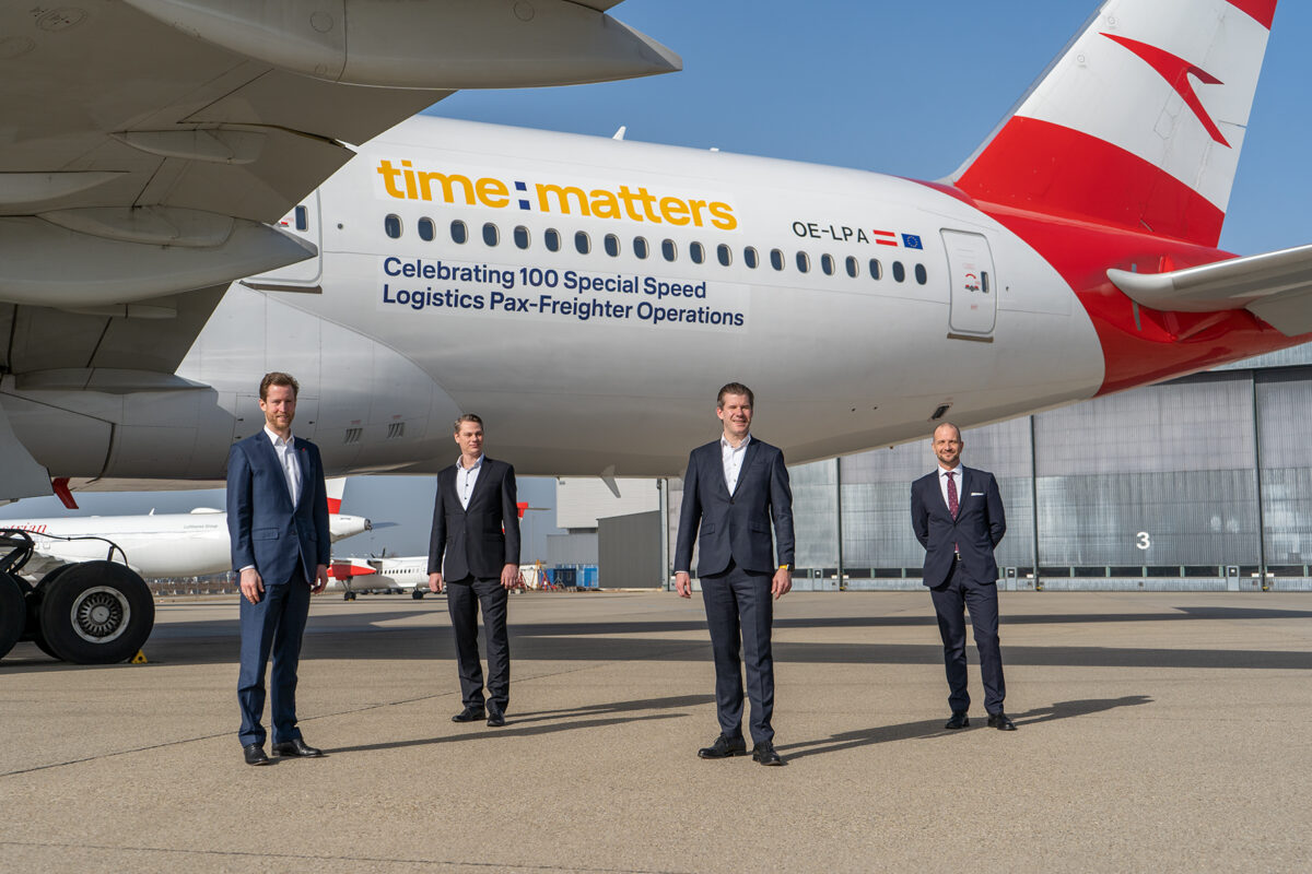 Austrian Airlines Completes Its 100th COVID Cargo Flight