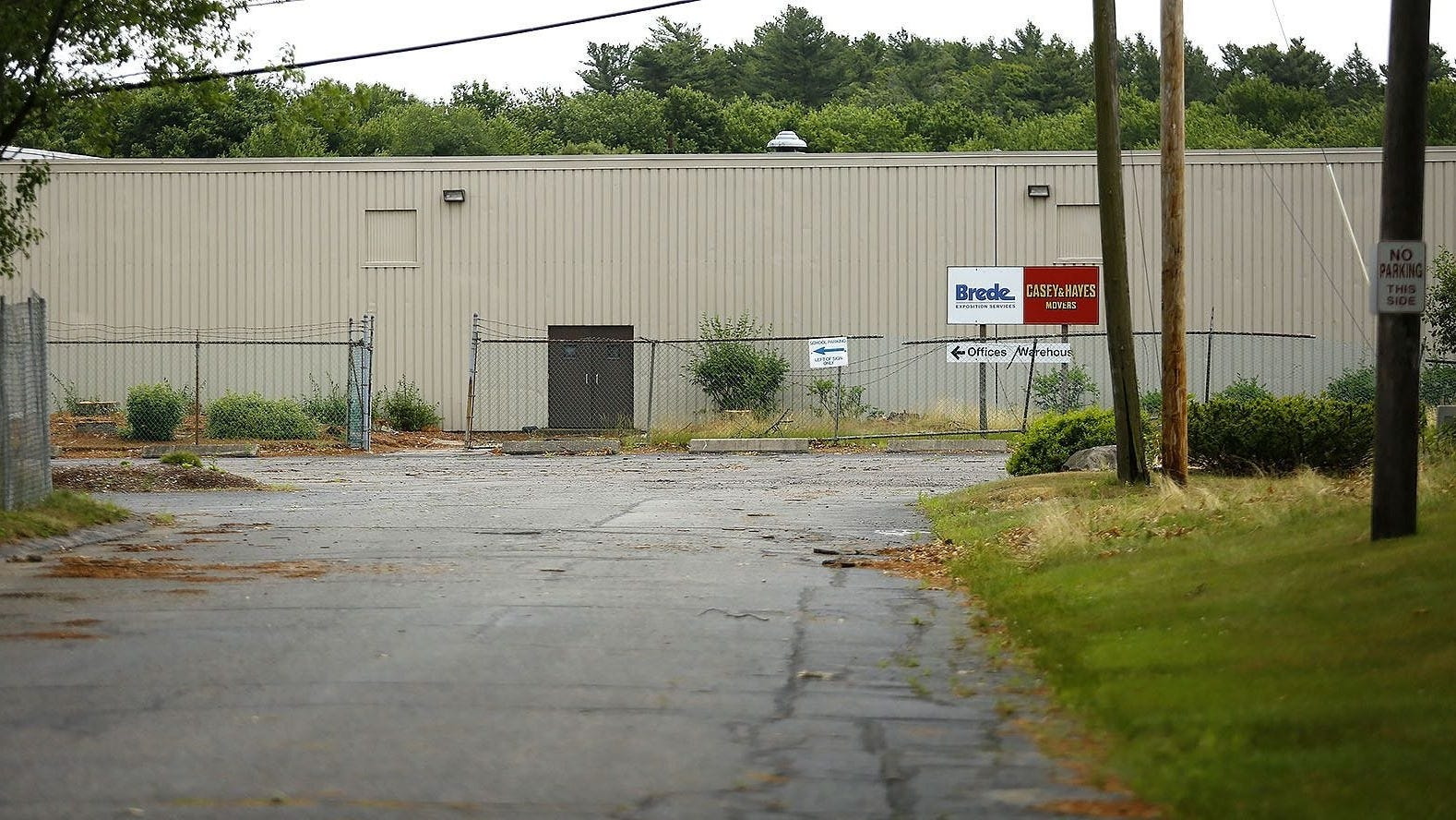 100 Industrial Park Road in Hingham is slated to be the future home of an Amazon distribution center.