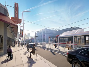A rendering of what the new Green Line station at 9th Avenue N along Centre Street might look like.